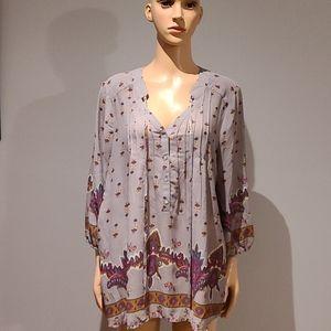 Anthropologie Pleione boho blouse size Large